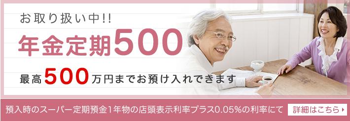 年  金定期500